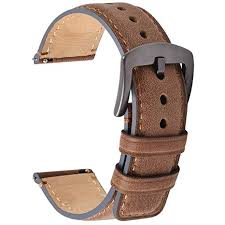 Fullmosa Burnished Watch Strap <b>Leather</b>, 3 Colors Quick Release ...