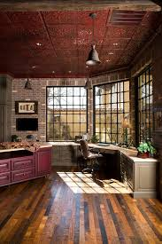 sewing room ideas home office rustic with ceiling lighting exposed brick ceiling lights for home office