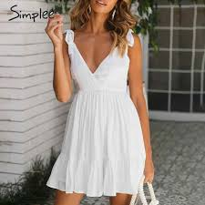 Simplee <b>Elegant spaghetti straps</b> women playsuit Elastic high waist ...