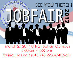 rct job fair rizal college of taal good luck job hunters see you there