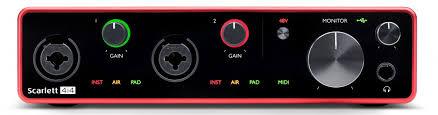 <b>Аудио интерфейс Focusrite Scarlett 4i4</b> 3rd Gen