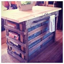 pallet kitchen island cart