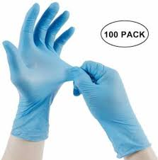Agarwals ™ Disposable Nitrile Hand Gloves (<b>Pack Of 100</b>) <b>Nitrile</b> ...