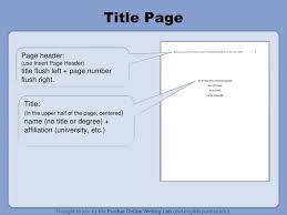 RESEARCH WRITING - Apa References Style ... Title page Your essay should include four major sections: 10.