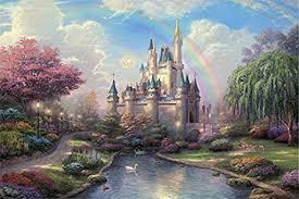 Blxecky 5D <b>DIY</b> Diamond Painting <b>Crafts Kits</b>,<b>castle</b>(16X16inch ...