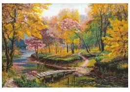 <b>Nitex Набор для вышивания</b> Осень в старом парке 56 х 41 см ...