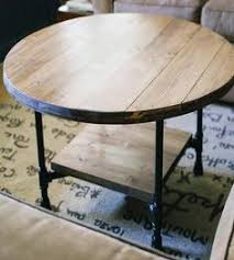 reclaimed wood round coffee table with shelf by southern sunshine on scoutmob bargu mango wood side table