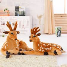 <b>Cute</b> Soft Sika <b>Deer Cartoon</b> Child <b>Animal</b> Dolls Plush Stuffed Toy ...