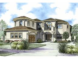 San Simon Florida Style Home Plan S    House Plans and MoreTwo Story Luxury Florida Style Home With Sleek Stucco Exterior
