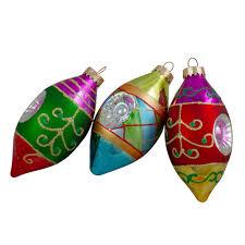 Vintage Colorful <b>Glass</b> Reflector <b>Christmas</b> Ornament festive <b>Tree</b> ...