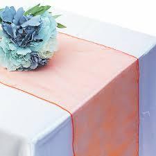 <b>30x275cm</b> Crystal <b>Organza</b> Table Runner <b>Cloth</b> Wedding Chair ...