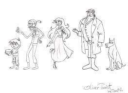 tina n my version of oliver twist from left to right oliver twist fagin nancy bill sikes and bull s eye