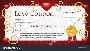 printable love coupon gift fifteen minute stock illustration a printable love coupon gift for fifteen minute erotic massage