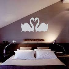wholesale double silver swan design 3d mirror diy wall stickers home bedroom living room office decoration acrylic office furniture home