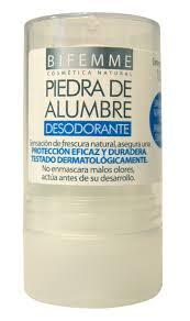 Piedra de alumbre, el desodorante natural