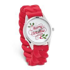 <b>Merry Christmas</b> Watch with Red <b>Silicone</b> Stretch <b>Band</b>