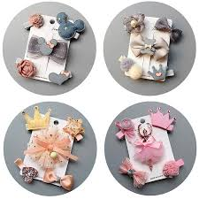<b>5Pcs</b>/<b>set</b> Kids Barrettes <b>Hairpins</b> Headwear <b>flower</b> girls hair bows ...