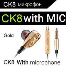 QKZ CK8 Dual Driver Earphones Stereo Bass Sport Running ... - Vova