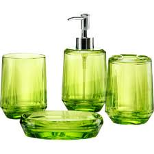 clear bathroom accessories creative gemme  piece bathroom accessory set