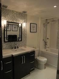 tile backsplash behind vanitymirror and hanging pendant lights by katheryn amazing pendant lighting bathroom vanity