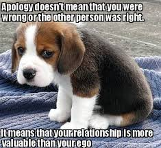 Meme Maker - Apology doesn't mean that you were wrong or the other ... via Relatably.com