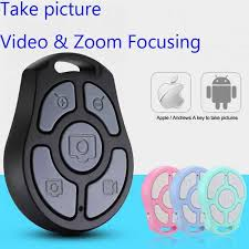 <b>5 Key Selfie Shutter</b> Bluetooth Remote Control Self timer fast camera ...
