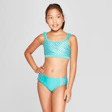 Girls Wild Sea Bikini Set Cat Jack Turquoise XL Blue