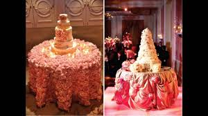 Cake Table Decoration Easy Wedding Cake Table Decorations Youtube
