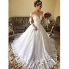 Magbridal Modest Tulle V-neck Neckline Mermaid Wedding Dresses ...