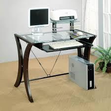 modern office table glass top table desks office glass office table clear glass top amp cappuccino bush aero office desk design interior fantastic