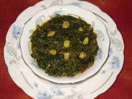 Image result for images curried spinach