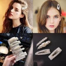 Fashion Pearl Hair Clips for Women Girls Elegant Korean ... - Vova