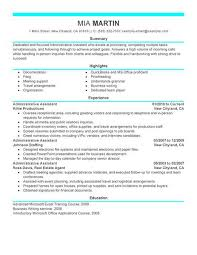 resume templates executive administrative assistant best example livecareer sample resume of executive assistant