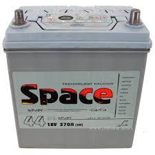 <b>АКБ</b> 44Ah <b>SPACE</b> (о.п+) (50B19L) 370A(EN) Азия 12V