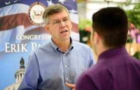 trump will likely be a wild card in minnesota s third district glen stubbe star tribune rep erik paulsen spoke voters at the cub foods in champlin as part of congress on your corner in 2015
