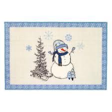 <b>Коврик</b> для ванной <b>Avanti Let it</b> Snow (Blue), 13321J, белый