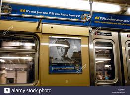 an nyc subway car ads for nypd recruitment stock photo an nyc subway car ads for nypd recruitment
