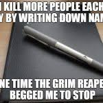 Death note Meme Generator - Imgflip via Relatably.com