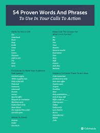 how to write a call to action words examples words phrases to use in calls to action