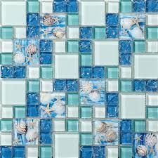 crystal glass tiles blue tile