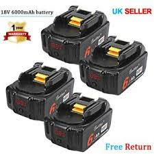 <b>4x</b> BL1860b <b>18v</b> 6.0ah <b>battery</b> for Makita <b>18v</b> BL1830 with LED ...
