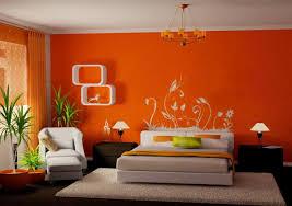 Orange Bedroom Wallpaper Bedroom Wall Paint Designs