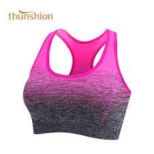 THUNSHION <b>Sports Bra High Stretch</b> Breathable Top Fitness ...