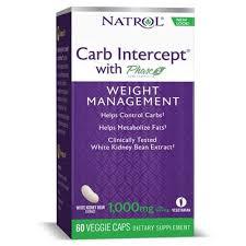 NATROL <b>Carb Intercept</b> 3 with <b>Phase2</b>+Cr 3 Green Tea 60 caps ...