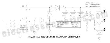 voltage multiplier for power led driver voltage multiplier led driver circuit schematic