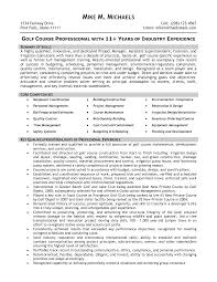 golf course superintendent resume examples resume format  sample