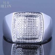 Купить <b>helon</b> sterling silver 925 mens round cut diamond ...
