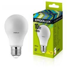 «<b>Лампочка Ergolux</b> ЛОН <b>LED</b>-<b>A60</b>-<b>10W</b>-E27-3K 12148 ...