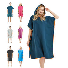 <b>Microfiber Wetsuit Changing Robe</b> Poncho with hood, Quick Dry ...