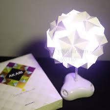 New <b>night light</b> DIY IQ <b>creative</b> lamp colorful origami lamp Puzzle ...